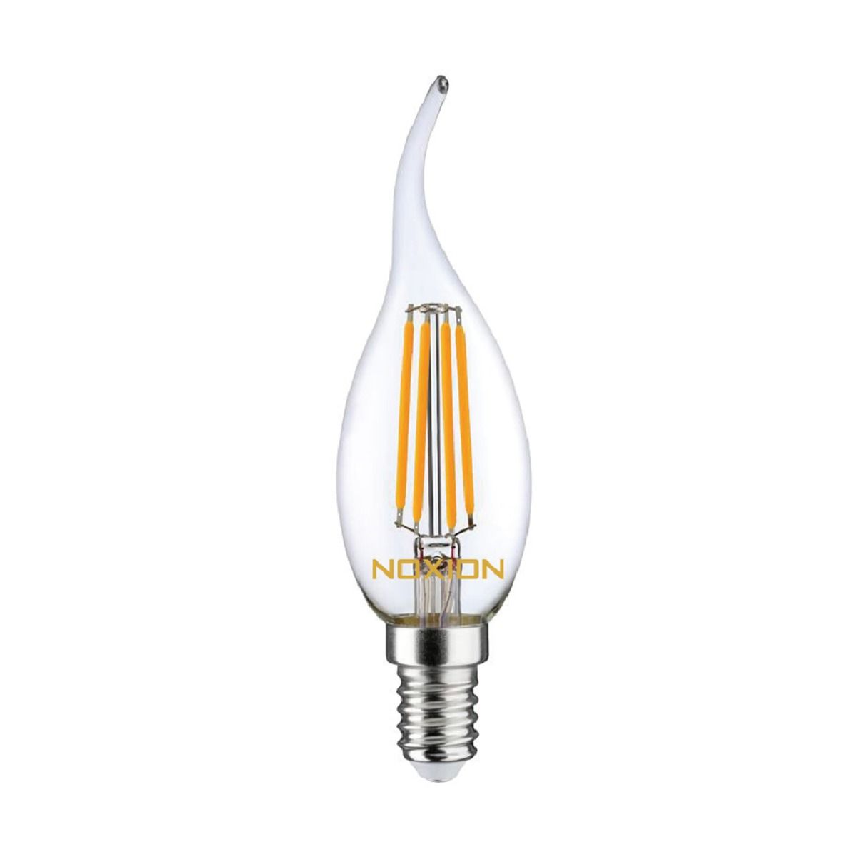 Noxion Lucent Filament LED Candle 4.5W 827 BA35 E14 Clear   Dimmable - Replacer for 40W
