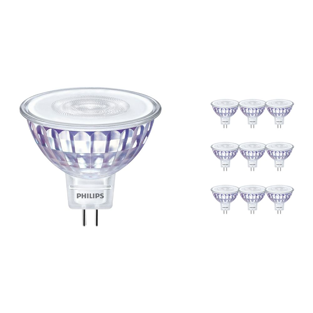 Multipack 10x Philips LEDspot LV Value GU5.3 MR16 5.5W 830 60D (MASTER)   Dimmable - Replacer for 35W