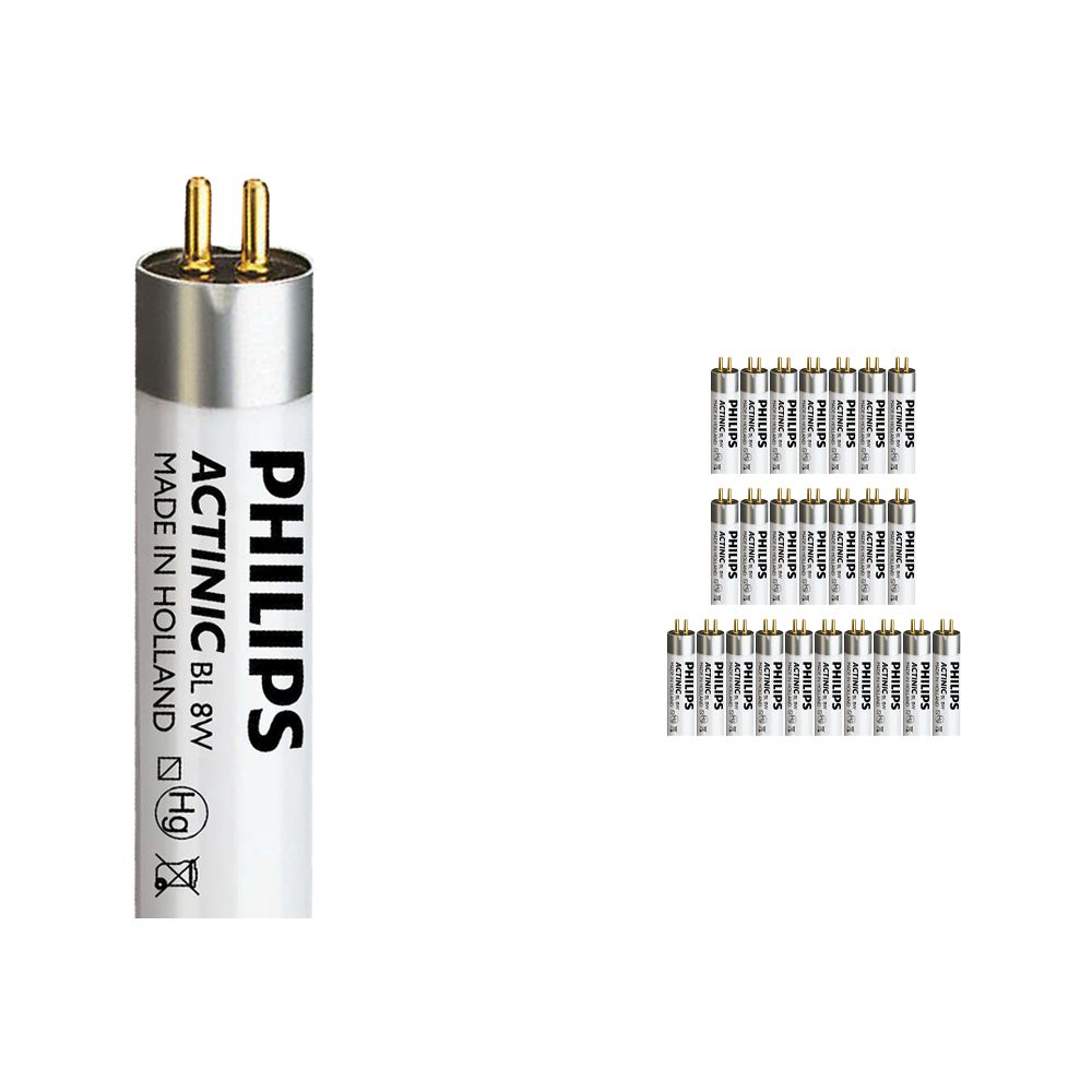 Multipack 25x Philips Actinic BL TL 8W 10 G5