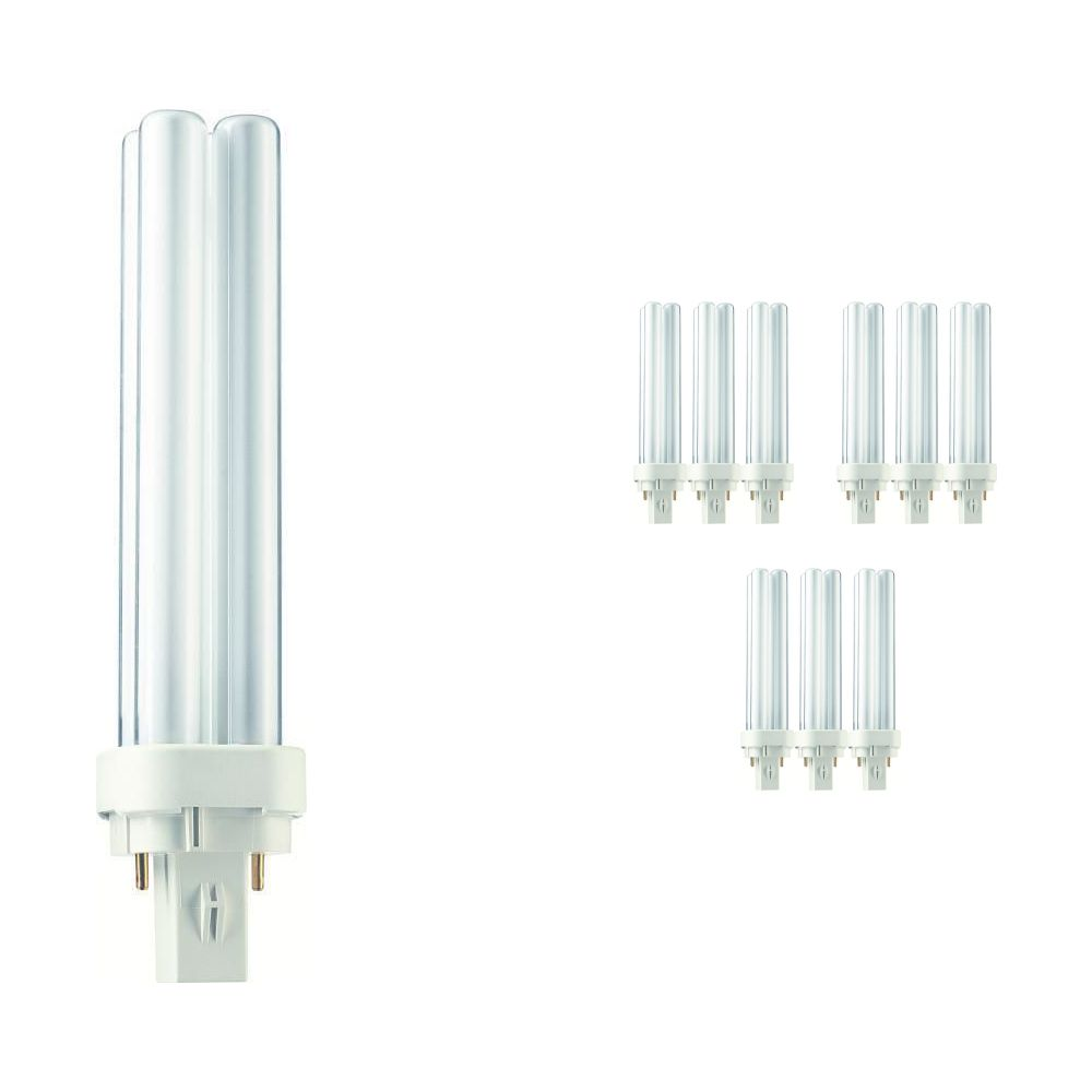 Multipack 10x Philips PL-C 18W 827 2P (MASTER) | Extra Warm White - 2-Pin