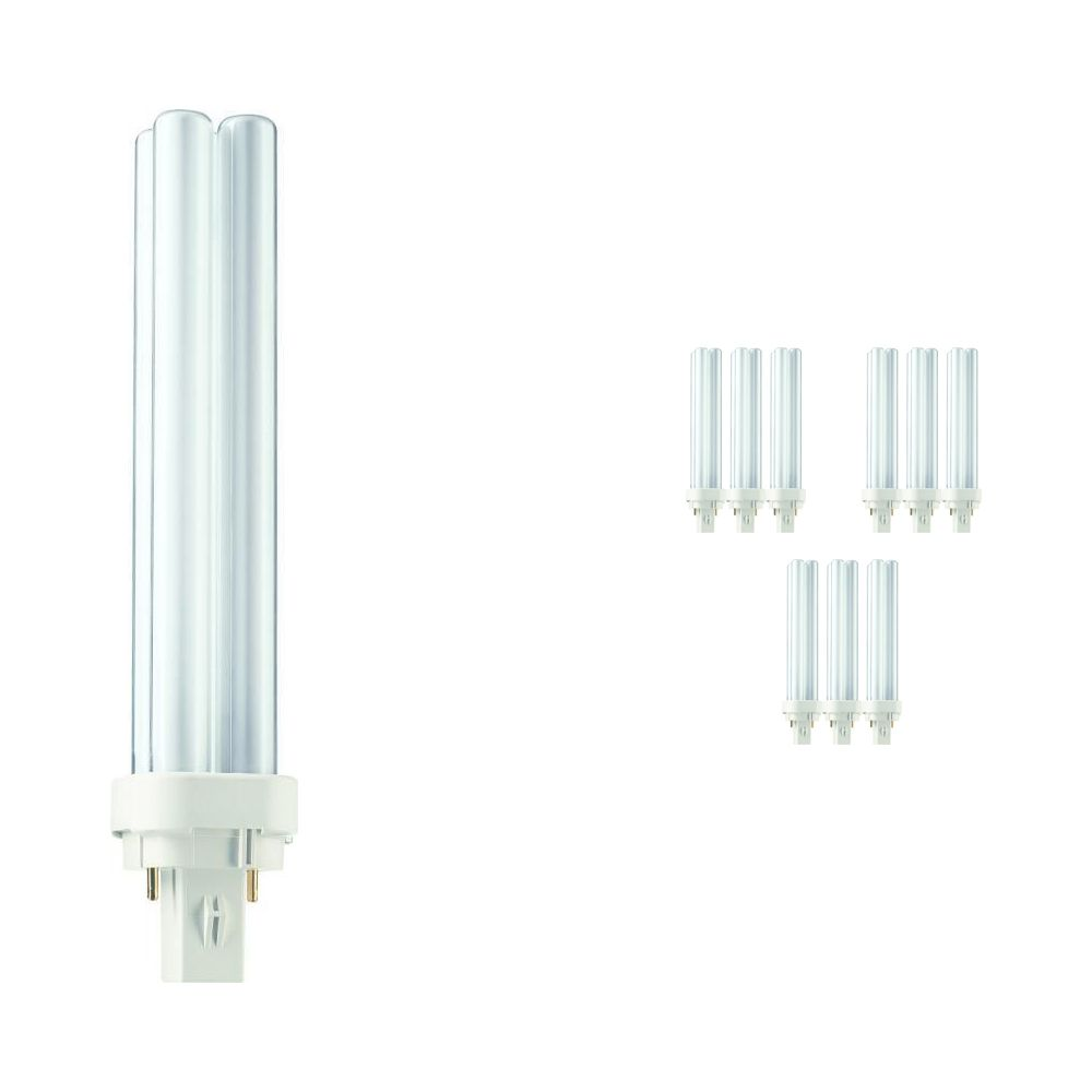Multipack 10x Philips PL-C 26W 840 2P (MASTER)   Cool White - 2-Pin