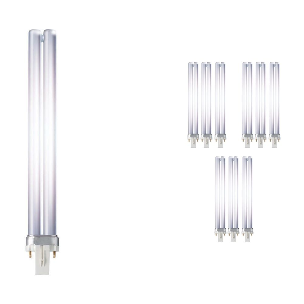 Multipack 10x Philips PL-S 11W 827 2P (MASTER)   Extra Warm White - 2-Pin