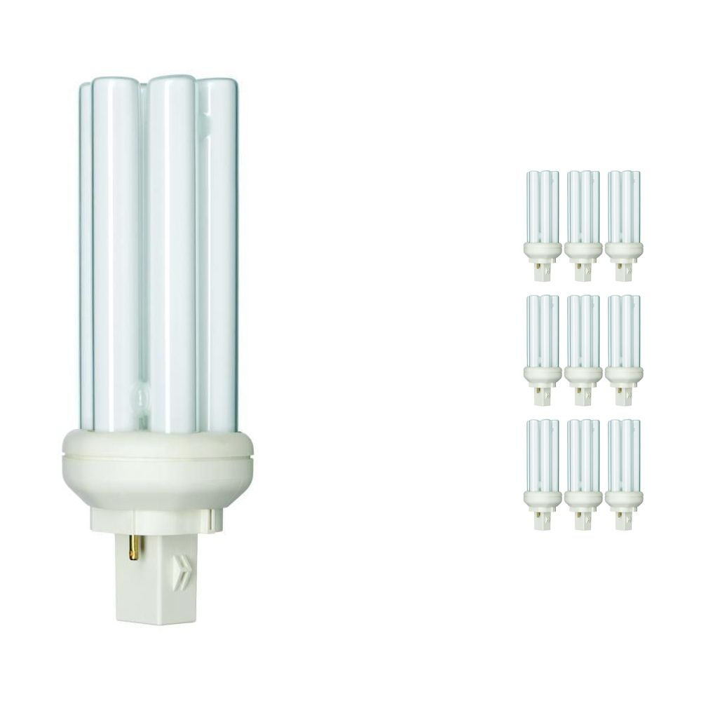 Multipack 10x Philips PL-T 26W 830 2P (MASTER)   Warm White - 2-Pin