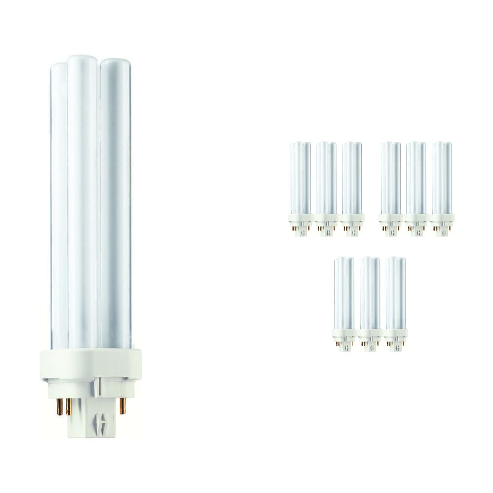 Multipack 10x Philips PL-C 18W 827 4P (MASTER)   Extra Warm White - 4-Pin