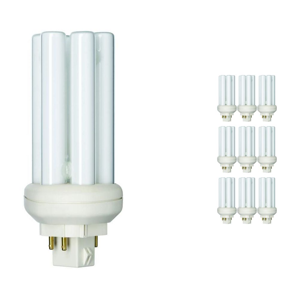 Multipack 10x Philips PL-T 18W 830 4P (MASTER)   Warm White - 4-Pin