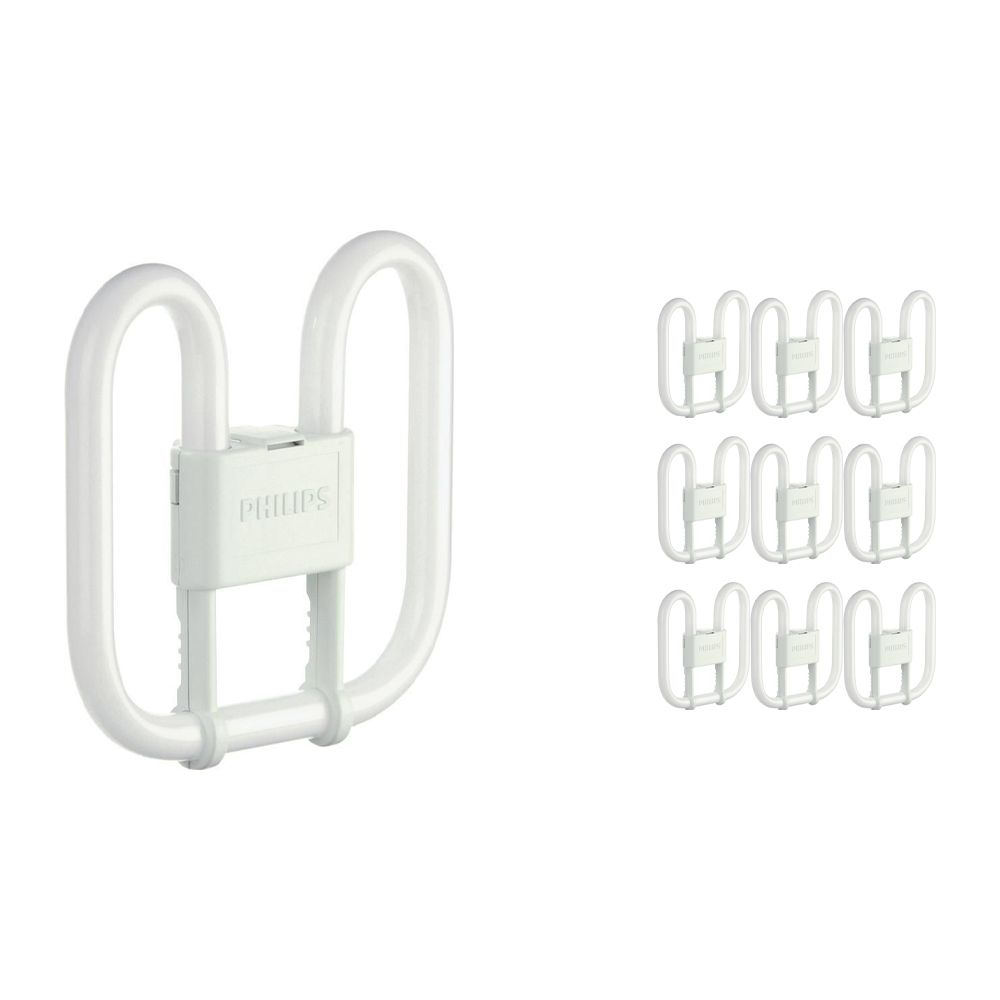 Multipack 10x Philips PL-Q 28W 830 4P (MASTER)   Warm White - 4-Pin