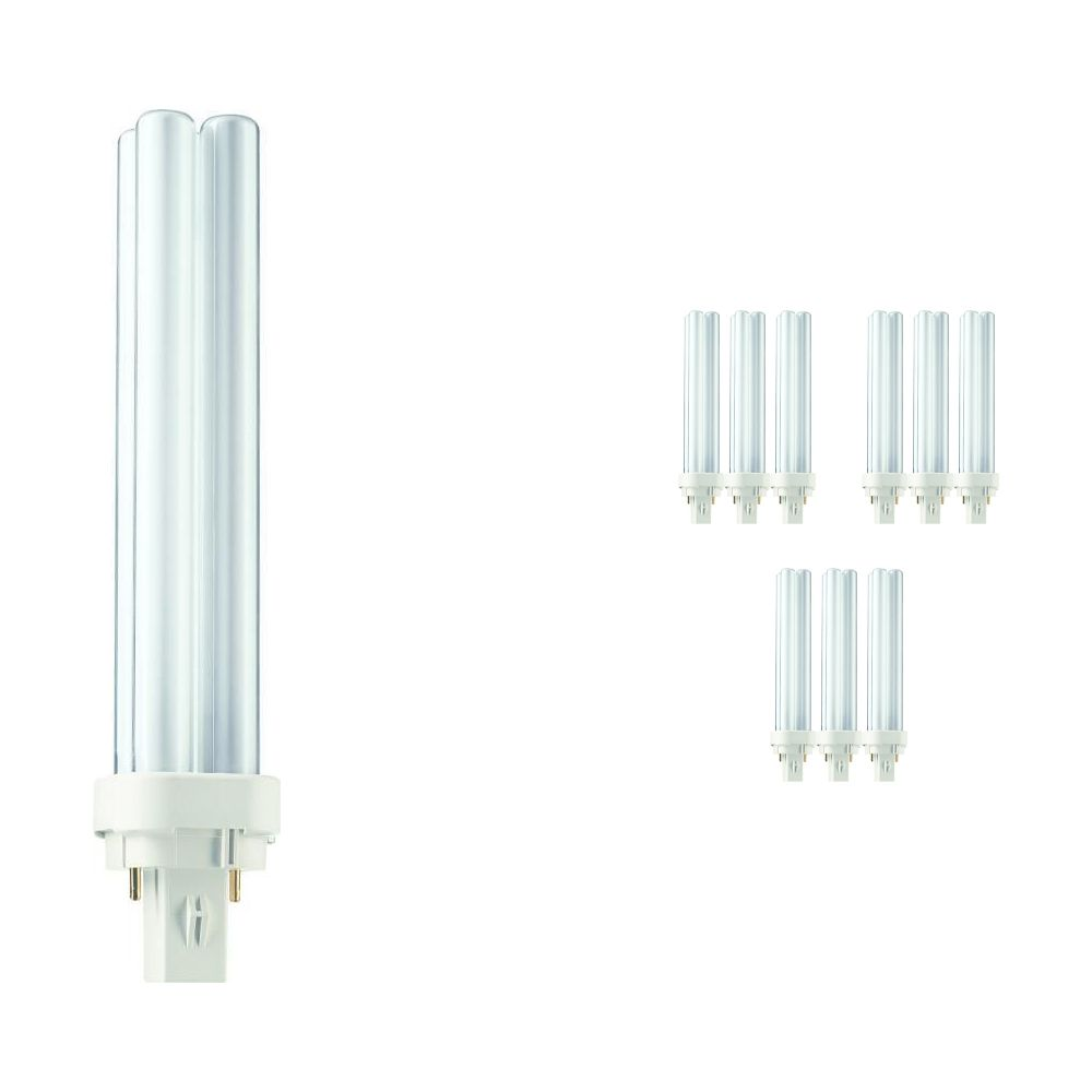 Multipack 10x Philips PL-C 26W 827 2P (MASTER)   Extra Warm White - 2-Pin