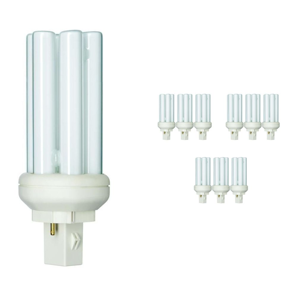 Multipack 10x Philips PL-T 18W 830 2P (MASTER) | Warm White - 2-Pin