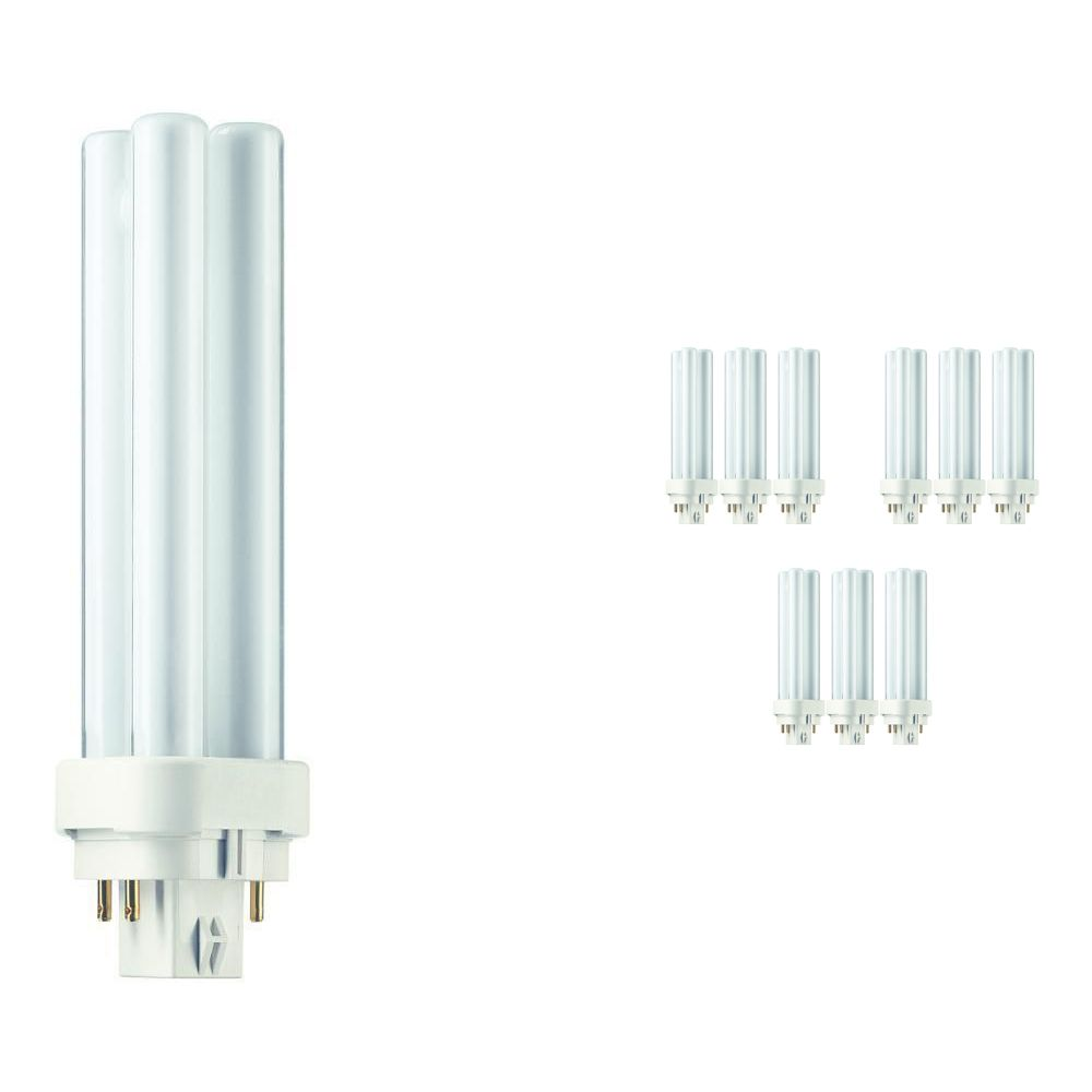 Multipack 10x Philips PL-C 13W 840 4P (MASTER) | Cool White - 4-Pin