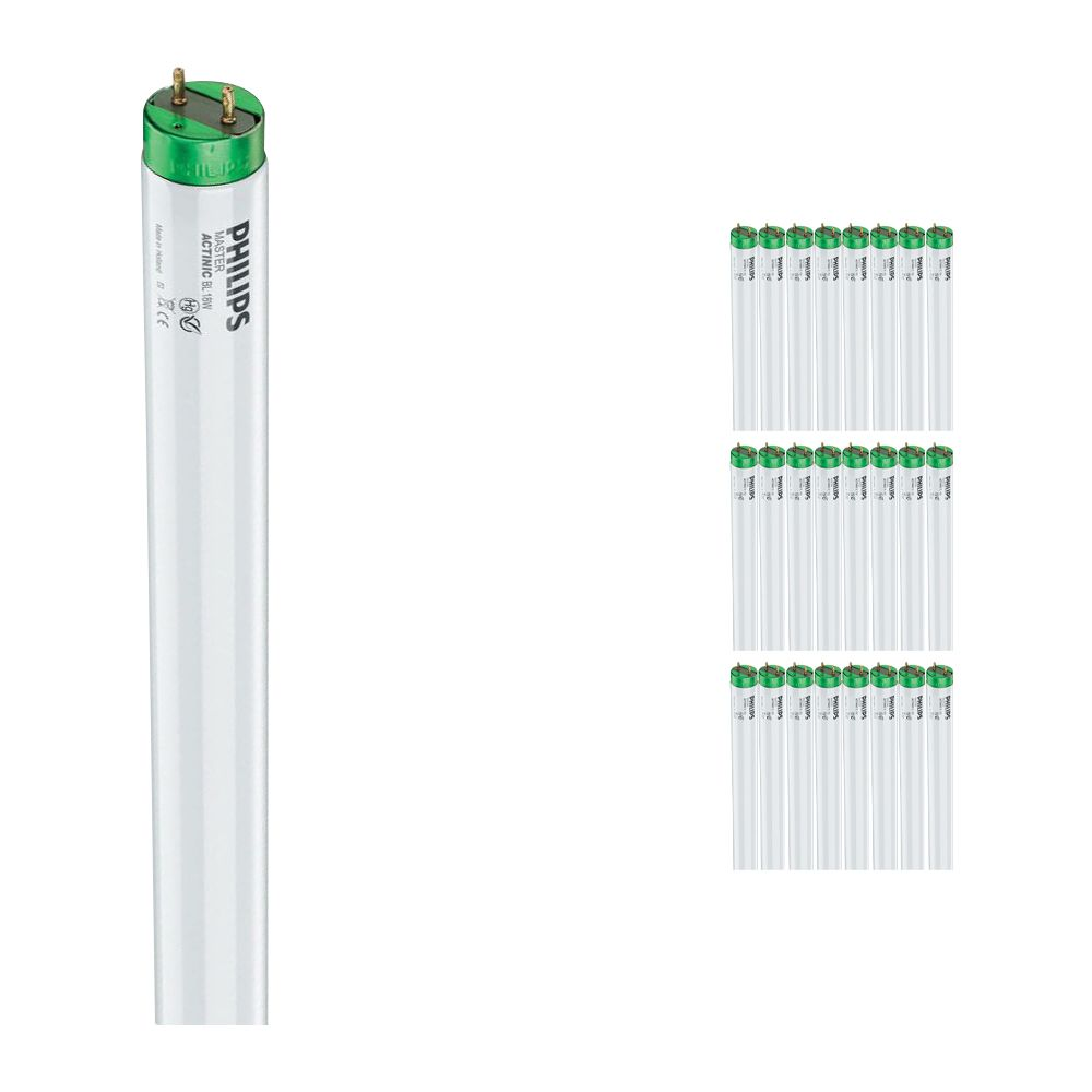 Multipack 25x Philips TL-D 18W 10 Actinic BL (MASTER) | 59cm