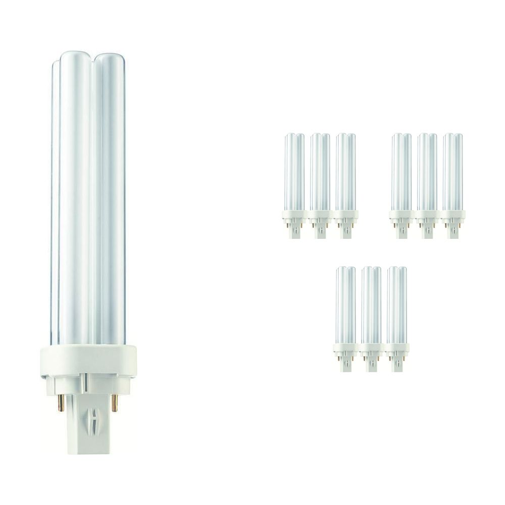 Multipack 10x Philips PL-C 18W 840 2P (MASTER)   Cool White - 2-Pin