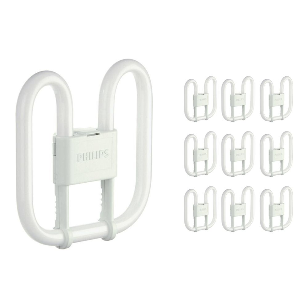 Multipack 10x Philips PL-Q 16W 830 2P (MASTER)   Warm White - 2-Pin