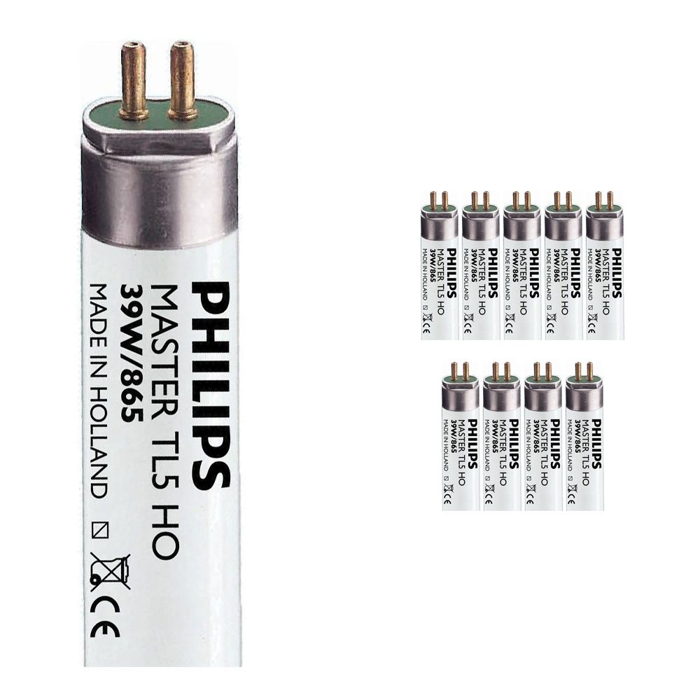 Multipack 10x Philips TL5 HO 39W 865 (MASTER) | 85cm - Daylight