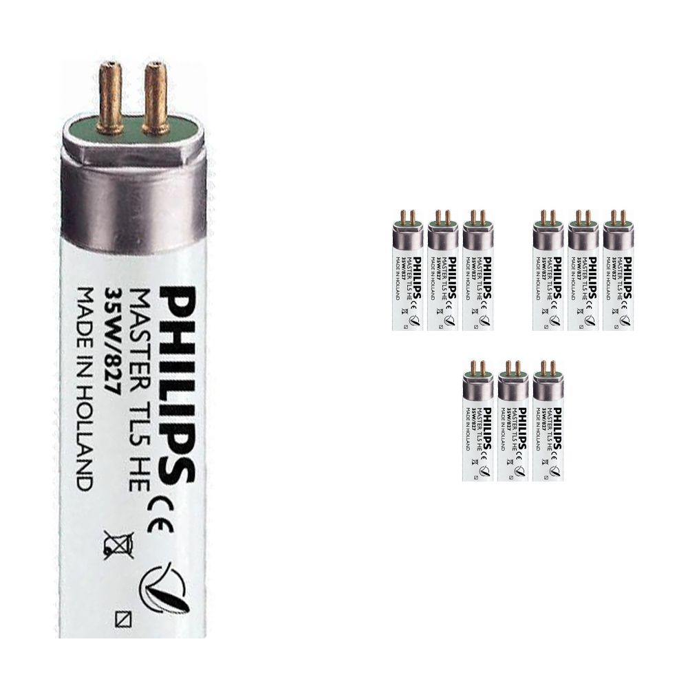 Multipack 10x Philips TL5 HE 35W 827 (MASTER) | 145cm - Extra Warm White