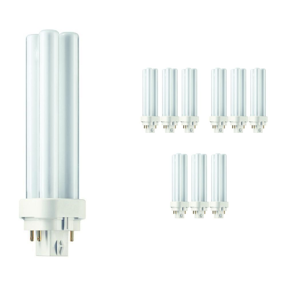 Multipack 10x Philips PL-C 13W 827 4P (MASTER)   Extra Warm White - 4-Pin