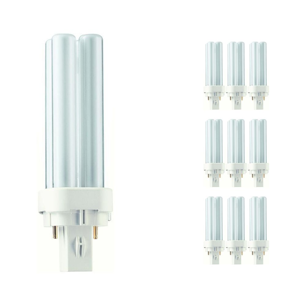 Multipack 10x Philips PL-C 10W 840 2P (MASTER) | Cool White - 2-Pin