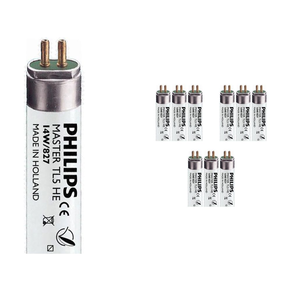 Multipack 10x Philips TL5 HE 14W 827 (MASTER) | 55cm