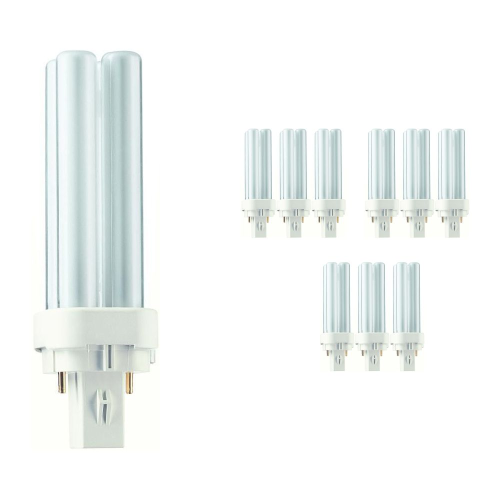 Multipack 10x Philips PL-C 10W 827 2P (MASTER)   2 Pin