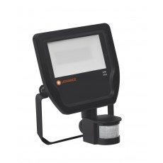 Ledvance LED Floodlight 20W 3000K 2200lm IP65 Black | with Sensor - Replaces 50W