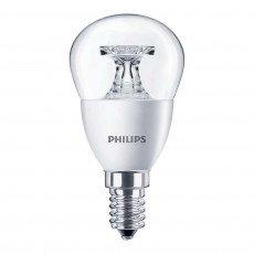 Philips CorePro LEDluster E14 P45 5.5W 827 Clear   Replaces 40W