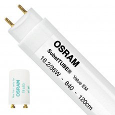 Osram SubstiTUBE Value EM 16.2 840 120cm   Replaces 36W